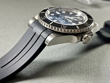 20mm BLACK Vulcanized Rubber Strap Band Fits Rolex Watch Submariner Daytona