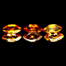 1.96 Carats 6Pcs Golden Yellow CITRINE Stone Marquise for Jewelry Setting