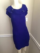 NWT! Chic Deep Purple Made for Me To Look Amazing Tunic Dress, Juniors Sz: M #22