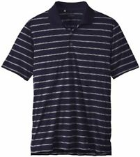 Adidas Golf Men's Classic 2 Color Stripe Polo Shirt, Navy/White, Small