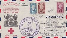 Suriname 1946 special Red Cross R-cover to Amsterdam