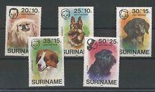 (W0537) DOGS, SURINAM, NVPH 43/47, MNH/UM, SEE SCAN