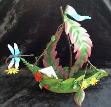 LEAF BOAT FOUNTASIA - FAIRY GARDEN - POND - METAL - SPECIAL OFFERS