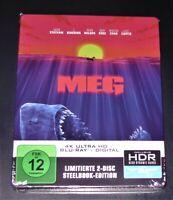 Meg 4K Ultra HD blu ray + Limitée steelbook Édition Neuf & Emballage D'Origine