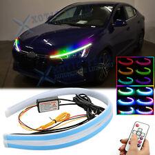 "24"" RGB LED Daytime Running Light Headlight For Hyundai Elantra Veloster Genesis"