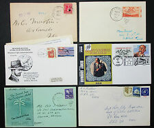 Us Postal History set of 6 Stamps covers letter Smithsonian ADV EE. UU. carta h-7649