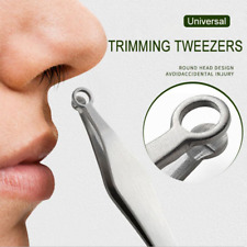 Universal Nose Hair Trimming Tweezers Stainless Steel Eyebrow Nose Hair Cut US