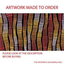 Aboriginal Art Painting by Adam Reid MADE TO ORDER up to 90cm x 130cm