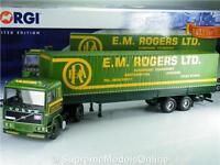 CORGI CC15504 VOLVO F10 EM ROGERS TILT TRAILER TRUCK LORRY GREEN 1:50 SCALE T34