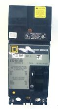 SQUARE D CIRCUIT BRAKER, FA24015AC, I-LINE MOLDED CASE, 15 AMP, 480 VAC, 2 POLE
