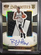 Rondae Hollis-Jefferson 2015-16 Preferred Silhouettes RC Auto Jersey 6/25!!