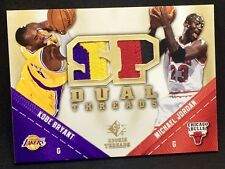 MICHAEL JORDAN / KOBE BRYANT 08-09 UD SP Rookie Threads DUAL GAME-USED PATCH SSP