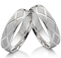 Eheringe Trauringe Verlobungsringe aus 925 Silber mit echtem Diamant  SBK49