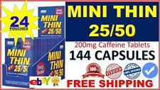 Mini Thin 25/50 EF Energy Booster - 6-Count Capsules (Pack of 24)