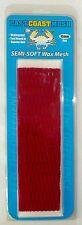 East Coast Dyes Semi-Soft Wax Lacrosse Mesh 15mm Red Waterproof >New<