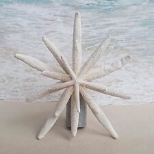Silver Starfish Tree Topper- Beach Christmas Coastal Nautical Xmas Star Sea