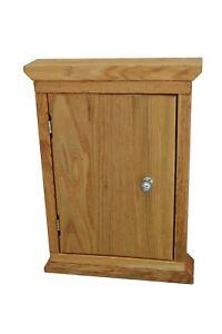 XXL School, Office or House Key Cabinet Cupboard Rack Holder Storage Solid OAK