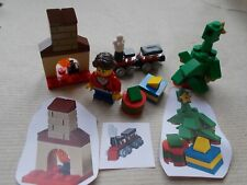 LEGO CITY CHRISTMAS SCENE CHRISTMAS MORNING TOYS TREE FIREPLACE PLANES TRAIN