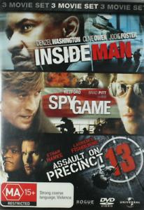 Inside Man / Spy Game / Assault on Precinct 13 (DVD, 3 Movie Set) - VGC