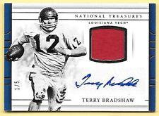 2017 National Treasures #99 Terry Bradshaw Jersey Autograph #1/5 LOUISIANA TECH