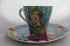 Stoneage Decorative Cup & Oval Saucer by Carleen Gaby, Secrets, Art Deco Theme