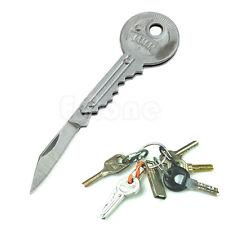 "Portable Key Shaped Knife Folding Pocket 3.6"" Long Utility Blade Mini Peeler New"