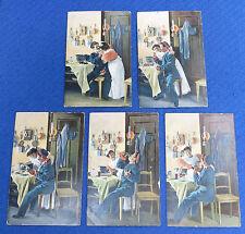 5 Dr. Trenkler & Co, Leipzig, Artists Post Cards Series/Serie 375, Kitchen Table