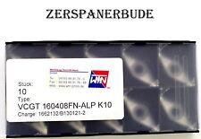 10 Wendeplatten VCGT 160408FN ALP K10 von WTN  Neu und originalverpackt