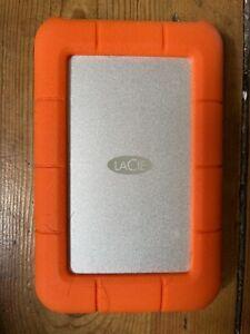 LACIE RUGGED MINI 2TB orange external hard drive USB C 3.1 design Neil Poulton