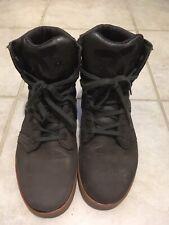 DC Shoes Admiral Brown  Hi Top Skate Shoe Men US 10.5M 301940 Damaged Used