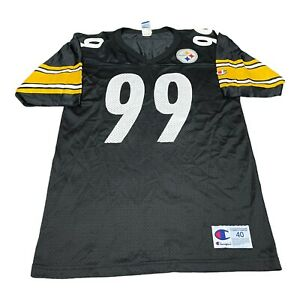 Champion Authentic Apparel Mens Medium Steelers Jersey 99 Kirkland Vintage