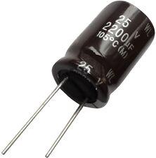 2x Condensateur chimique LOW ESR 2200µF ±20% 25V THT 105°C 5000h Ø16x25mm radial