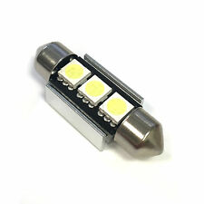 1x RENAULT ESPACE MK1 Bright Xenon Bianco 3SMD LED Canbus Targa Lampadina