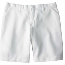 Nwt Women's Dickies Flat Front Shorts #FR221 White 24
