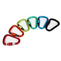 25KN Screwgate Lock Carabiner Keychain Clip Hook for Rock Climbing Camping