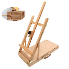 Portable Painting Easel Box Top Table Art Adjustable Wood Studio Easels