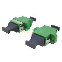 10pcs MPO MTP Fiber Optic Adapter UP-DOWN Integral Connector APC Green Flange