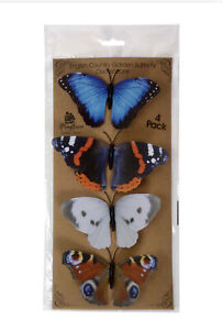 ENGLISH COUNTRY GARDEN BUTTERFLY DECORATIONS ON CLIPS - INDOOR - OUTDOOR