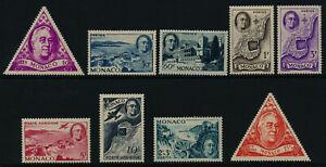 Monaco 198-202, B93. C14-5, CB6 MNH Roosevelt, Map, Architecture
