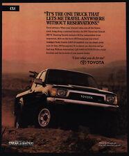 1991 TOYOTA 4X4 Xtra Cab SR5 V6 Pickup Truck VINTAGE AD