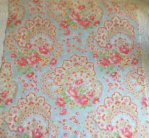 Paisley Rose Blue Cath Kidston FQ 50cm Square Lightweight cotton fabric new