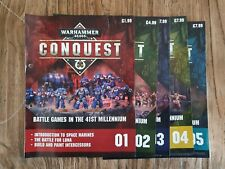 Warhammer 40,000 CONQUEST Binder Magazines. Issue 01 - 05 (No figures)