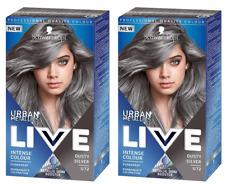 2x Schwarzkopf Live Intense Colour DUSTY SILVER U72 Urban Metallics