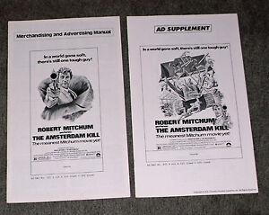 THE AMSTERDAM KILL original 1978 movie pressbook ROBERT MITCHUM/KEYE LUKE