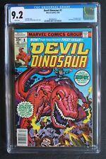 DEVIL DINOSAUR #1 1st MOON-BOY Marvel 1978 KIRBY Disney TV Cartoon CGC NM- 9.2