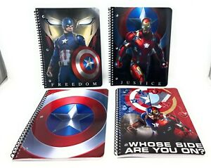 Captain America Civil War MARVEL WIDE RULED Notebooks - IRON MAN - Lot of 4