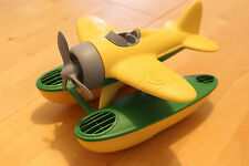 GREEN TOYS Yellow SEAPLANE Sea Plane Floats Bath Pool Toy USA 100% Recycled