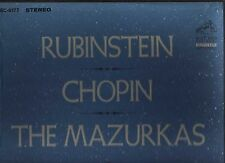Rubinstein,  Frédéric Chopin The Mazurkas - 3 LP VINYL VG+/EX LSC-6177 Red Seal