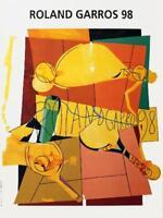 TENNIS ART PRINT - Roland Garros, 1998 by Herve Telemaque ORIGINAL POSTER