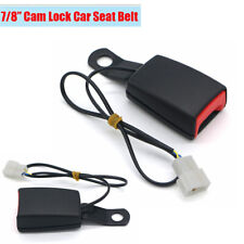 "7/8"" Car Front Seat Belt Latch Buckle Plug Socket Connector with Warning Cable"